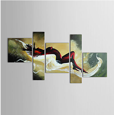 Figture Woman Nude Lying in Bed-Nude Oil Painting Wall Art-Modern Canvas Art Wall Decor